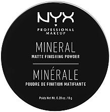 Парфумерія, косметика Фінішна мінеральна пудра - NYX Professional Makeup Mineral Matte Finishing Powder