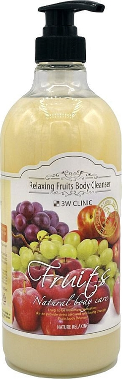 Гель для душа с фруктовым ароматом - 3W Clinic Relaxing Fruits Body Cleanser