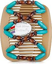 Духи, Парфюмерия, косметика Заколка для волос Beada 009, на бежевых гребнях - African Butterfly Hair Clip