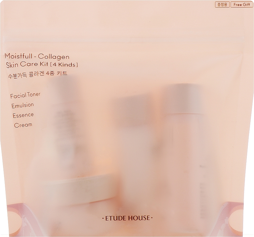Набор - Etude House Moistfull Collagen Skin Care Kit (emulsion/25ml + f/ton/25ml + cr/10ml + essence/8ml)