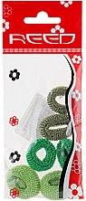 Духи, Парфюмерия, косметика Набор резинок для волос, 7576, 6шт, темно-зеленый + зеленый + салатовый - Reed