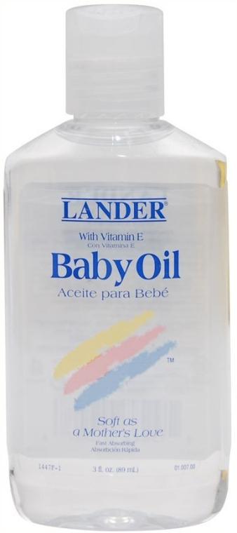 Детское масло для тела с витамином Е - Lander Baby Oil with vitamin E