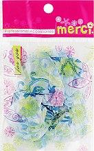 Духи, Парфюмерия, косметика Шапочка для окрашивания, MB2280, синие листочки - Merci