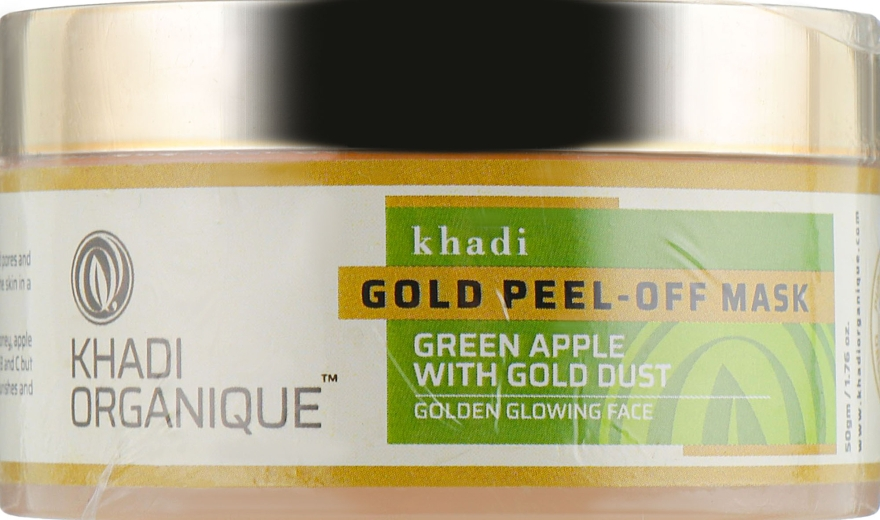 Натуральный аюрведическая очищающая маска-пленка с золотом - Khadi Organique Gold Peel Off Mask