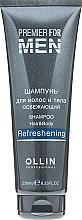 Парфумерія, косметика Освіжаючий шампунь для волосся і тіла - Ollin Professional Premier for Men Shampoo Hair&Body Refreshening