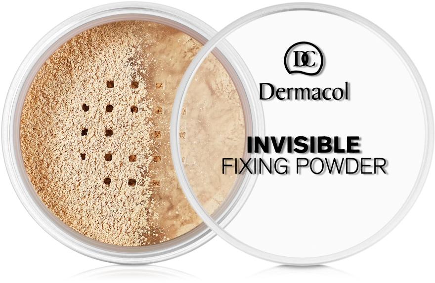 Прозрачная фиксирующая пудра - Dermacol Invisible Fixing Powder