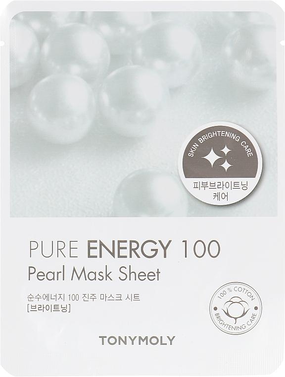 Тканевая маска с экстрактом жемчуга - Tony Moly Pureness 100 Pearl Mask Sheet
