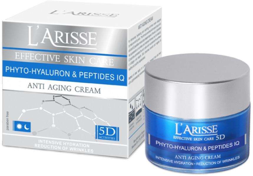 Крем с гиалуроновой кислотой и пептидами 45+ - Ava Laboratorium L'Arisse 5D Anti-Wrinkle Cream Phytohyaluron + Peptides