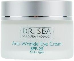 Духи, Парфюмерия, косметика Крем от морщин вокруг глаз SPF25 - Dr. Sea Anti-Wrinkle Eye Cream SPF25