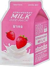 "Парфумерія, косметика Тканинна маска ""Полуниця"" - A'pieu Strawberry Milk One-Pack"