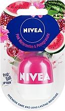 Духи, Парфюмерия, косметика Бальзам для губ - Nivea Pop-Ball Pink Watermelon & Pomegranate Lip Balm