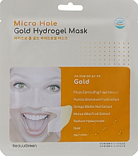 Духи, Парфюмерия, косметика Гидрогелевая маска для лица с золотом - Beauugreen Micro Hole Gold Energy Hydrogel Mask