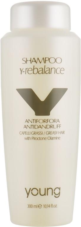 Шампунь от перхоти для жирных волос - Young Y-Rebalance Antiforfora Capelli Grassi Shampoo
