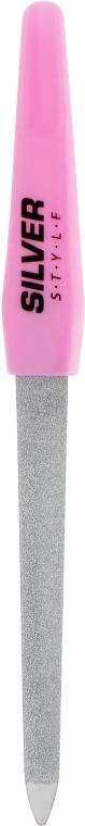 Пилка для ногтей сапфировая с радиусом, 15 см, розовая - Silver Style