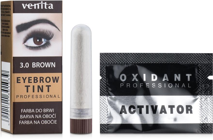 Краска-порошок для бровей - Venita Henna Color Eyebrow Tint