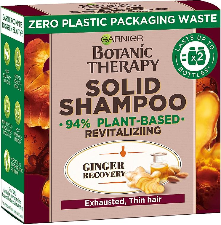 """Твердый шампунь для истощенных, тонких волос """"Имбирное восстановление"""" - Garnier Botanic Therapy Solid Shampoo"""