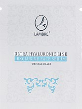Духи, Парфюмерия, косметика Сыворотка для разглаживания морщин - Lambre Ultra Hyaluronic (пробник)