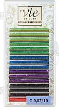 Духи, Парфюмерия, косметика Ресницы в ленте, разноцветные С 0,07/10 - Vie de Luxe