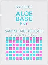Духи, Парфюмерия, косметика Детское нежное мыло - Bioearth Aloebase Kids Delicate Baby Soap With Aloe (пробник)
