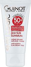 Духи, Парфюмерия, косметика Антивозрастной крем от солнца - Guinot Age Sun Summum Anti-Ageing Sun Cream SPF50