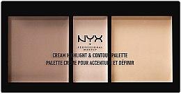 Духи, Парфюмерия, косметика Палетка для контурирования - NYX Professional Makeup Cream Highlight and Contour Palette