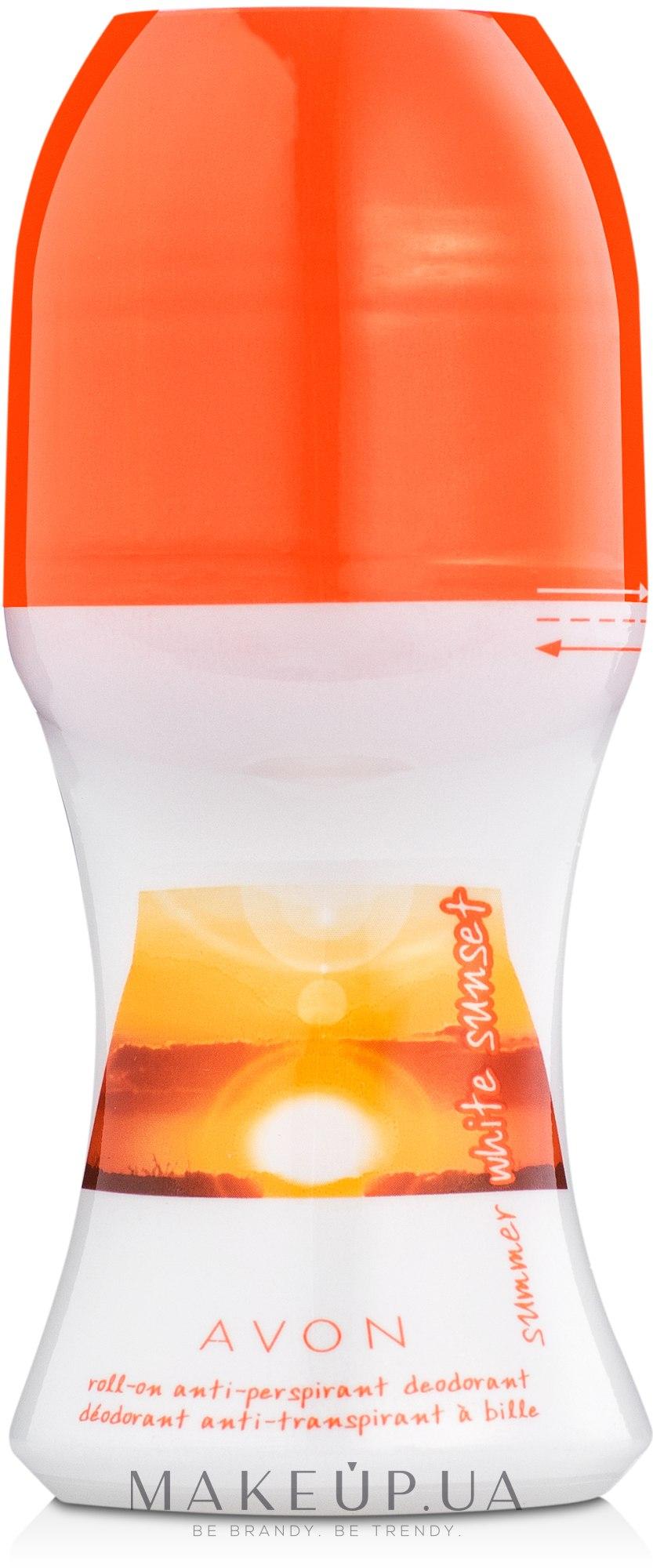 Avon Summer White Sunset - Шариковый дезодорант-антиперспирант — фото 50ml