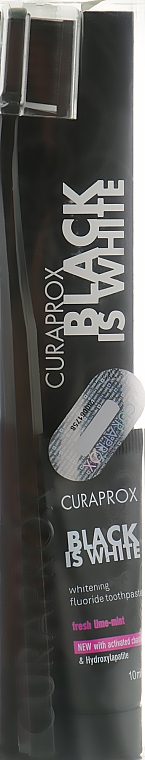 Набор - Curaprox Black Set (toothpast/10ml + toothbrush/1шт)
