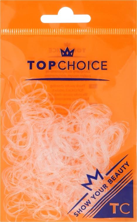 Резинки для волос 22715, прозрачные - Top Choice