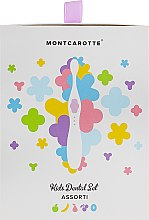 """Духи, Парфюмерия, косметика Подарочный набор """"Ассорти"""", розовый - Montcarotte (too/brush/1pc + gel/5x5ml)"""