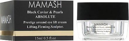 Крем-скульптор под глаза - Mamash Organic Black Caviar & Pearls Absolute Prestige Around Eye Lift Cream