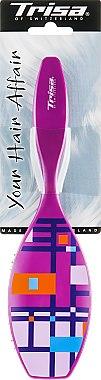 """Щітка масажна """"Fashion"""", велика, фіолетова - Trisa — фото N1"""