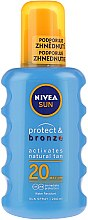 Духи, Парфюмерия, косметика Спрей солнцезащитный - Nivea Sun Care Protect & Bronze Sun Spray SPF 20
