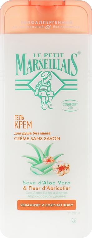 Гель-крем для душа с соком алоэ вера и цветок абрикосового дерева - Le Petit Marseillais Shower Gel-cream