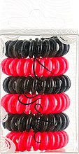 Духи, Парфюмерия, косметика Набор резинок для волос - Dessata No-Pulling Hair Ties Black-Fuchsia