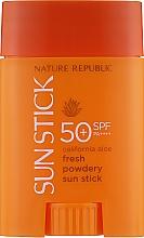 Духи, Парфюмерия, косметика Солнцезащитный матирующий стик с экстрактом алоэ - Nature Republic California Aloe Fresh Powdery Sun Stick SPF 50+ PA ++++