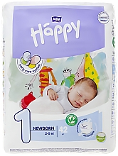 "Духи, Парфюмерия, косметика Детские подгузники ""Happy"" Before Newborn 1 (2-5 кг, 42 шт) - Bella Baby"