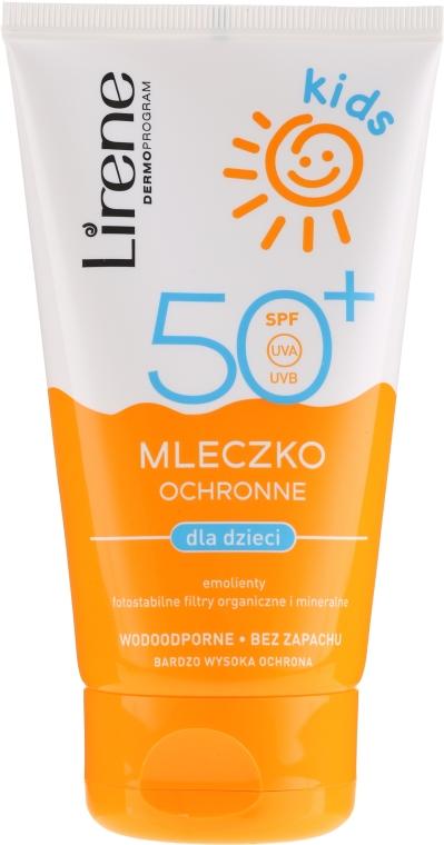 Защитное молочко для загара SPF 50+ - Lirene Kids Sun Protection Milk SPF 50+