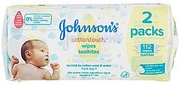 Духи, Парфюмерия, косметика Влажные салфетки, 112 шт. - Johnson's Baby Cotton Touch