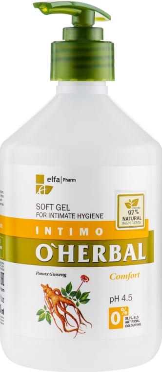Нежный гель для интимной гигиены с экстрактом женьшеня - O'Herbal Soft Gel For Intimate