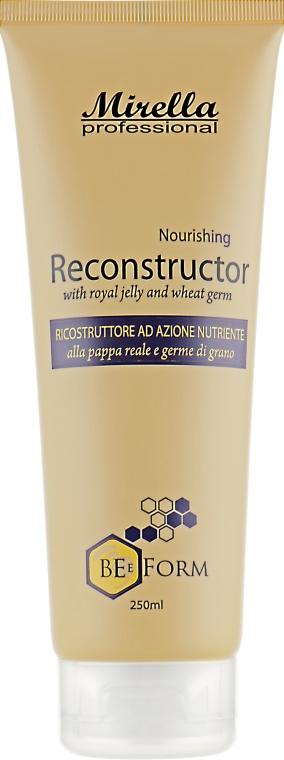 Восстанавливающий крем-кондиционер с маточным молочком и пшеничными протеинами - Mirella Professional Bee Form Nourishing Reconstructor