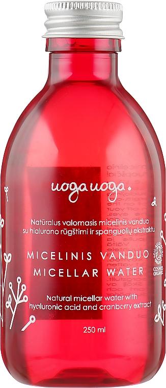 Мицеллярная вода с гиалуроновой кислотой и экстрактом клюквы - Uoga Uoga
