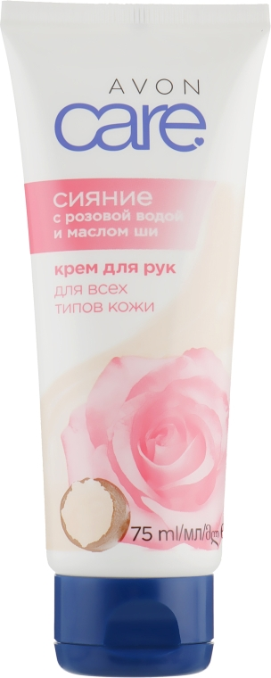 Крем для рук с розовой водой и маслом ши - Avon Care Radiant Rosewater & Shea Butter Cream