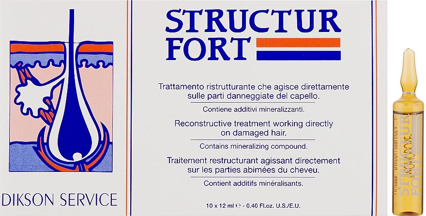 Ампульное средство для восстановления безжизненных, посеченных волос - Dikson Structur Fort