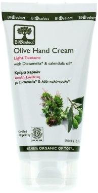 Крем для рук лёгкой консистенции с Диктамелией и календулой - BIOselect Olive Hand Cream Light Texture
