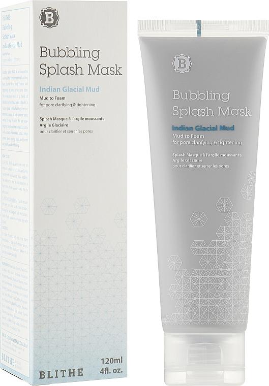 Сплэш-маска очищающая глиняная кислородная с экстрактом Авокадо - Blithe Bubbling Splash Mask Indian Glacial Mud