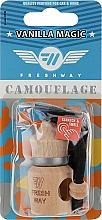 """Духи, Парфюмерия, косметика Ароматизатор пробковый """"Ванильная магия"""" для авто - Fresh Way Camouflage Wood Vanilla Magic"""