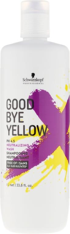 Безсульфатный шампунь с антижелтым эффектом - Schwarzkopf Professional Goodbye Yellow Shampoo — фото N3