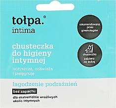Духи, Парфюмерия, косметика Салфетки для интимной гигиены успокаивающие 1шт - Tolpa Intima