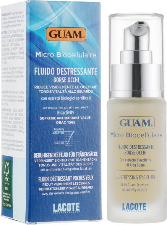 Микробиоклеточная сыворотка-антистресс для контура глаз - Guam Micro Biocellulaire Fluido Destressante Borse Occhi