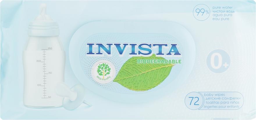 Детские влажные салфетки, 72 шт. - Invista Products For Baby Biodegradable